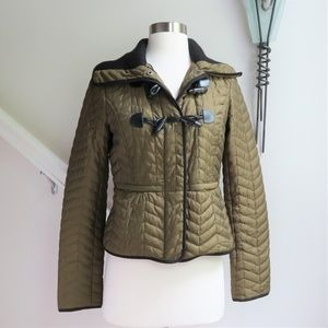 Cartonnier by Anthropologie Green Quilted Jacket
